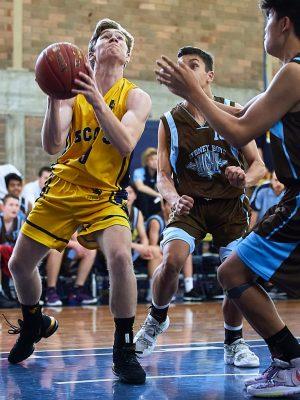 The Scots College 2nd Basketball team vs Sydney Boys High School