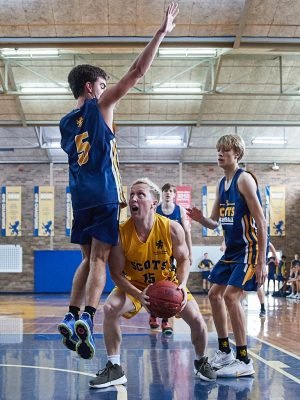 The Scots College Basketball team vs Scots Old Boys