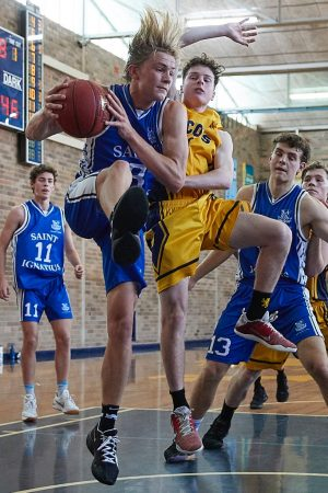 The Scots College 2nd Basketball team vs St Ignatius College Riverview
