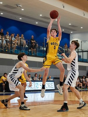 The Scots College 2nd Basketball team vs The Shore School